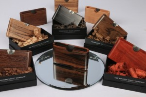 Beautiful Wooden Wallets with presentation boxes