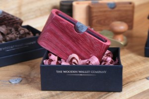 Purple Heart wooden wallet