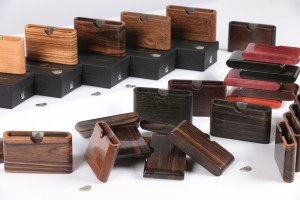 Selection of Wooden Wallets and presentation boxes